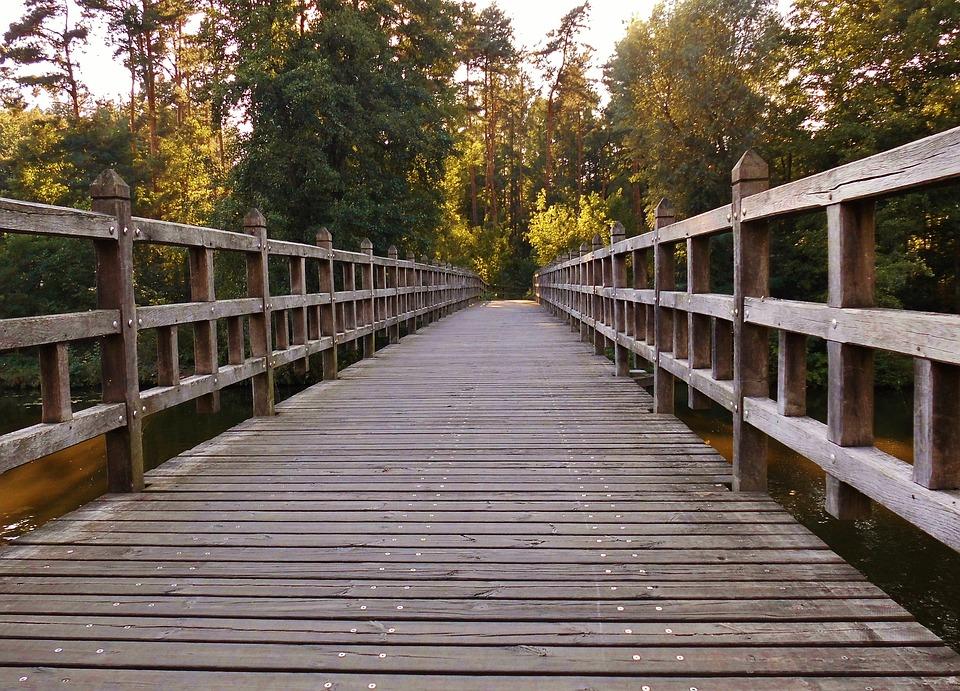 Wooden Bridge, Away, Wooden Boards, Transition