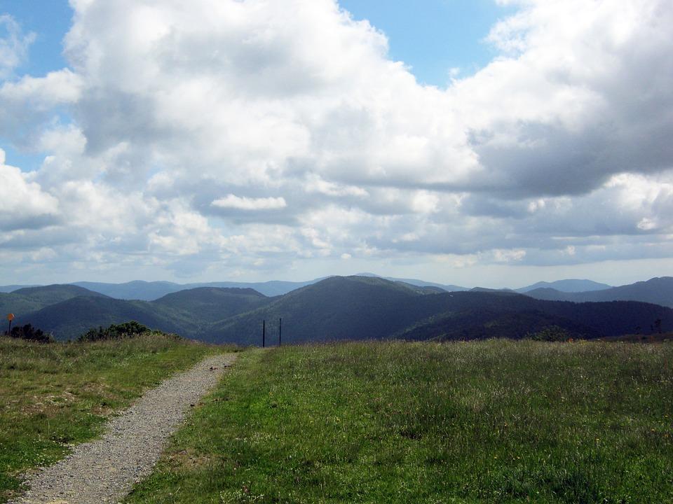 Mountains, Vosges, Balloon, Away, Wide, Horizon, Sky