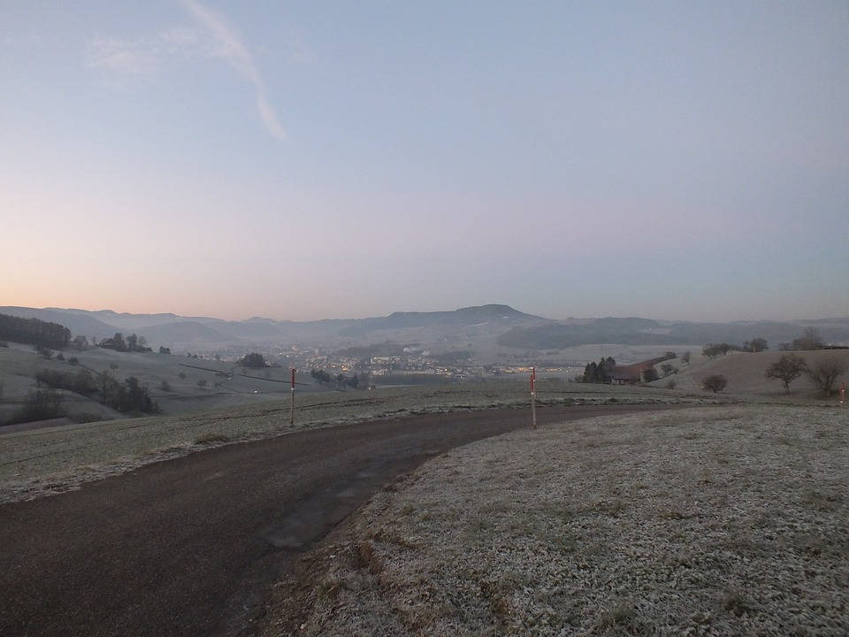Fog, Cold, Icy, Wintry, Winter, Away, Road
