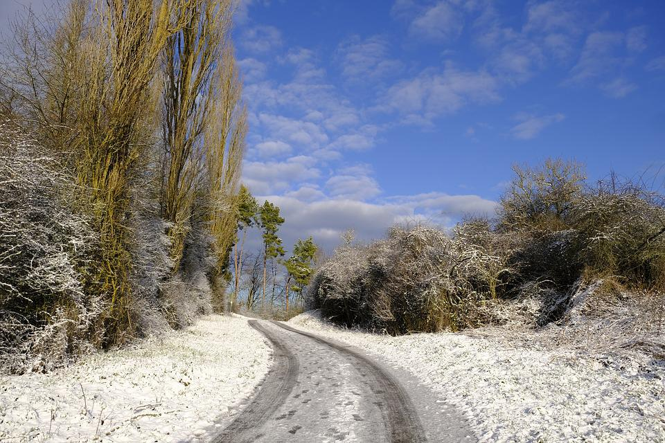 Winter, Snow, Nature, Landscape, Road, Away, Wintry