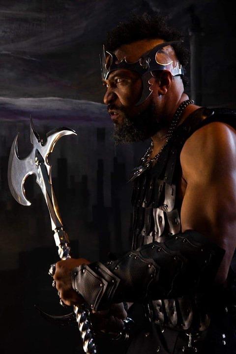 War, Warrior, Knight, Axe, Male, Mohawk, Fight, Muscles