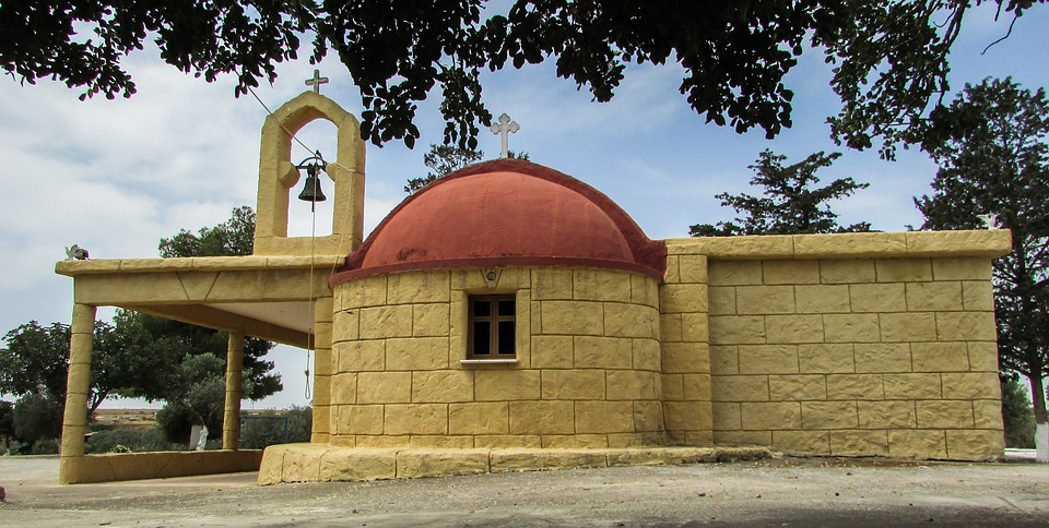 Cyprus, Vrysoules, Church, Ayia Eirini, Orthodox