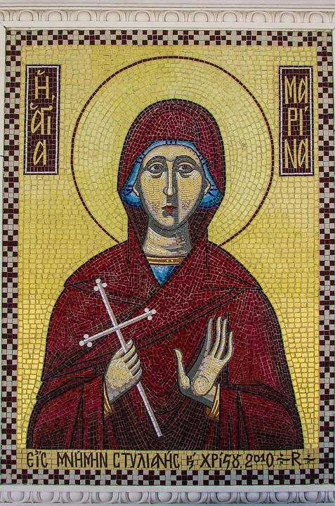 Mosaic, Ayia Marina, Cyprus, Agklisides, Saint, Church