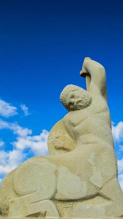 Cyprus, Ayia Napa, Sculpture Park, Centaur