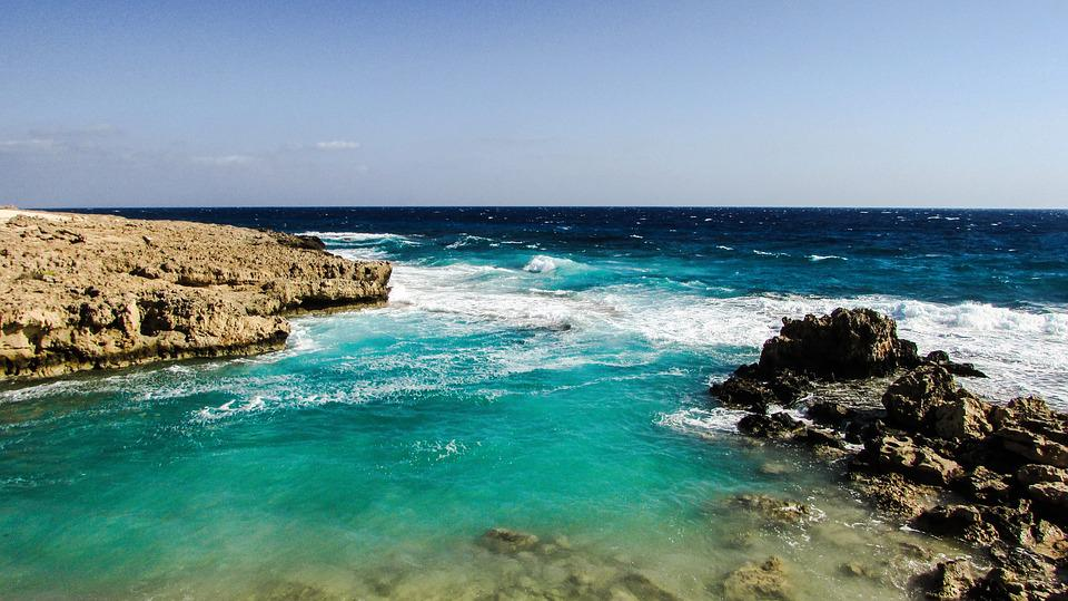 Wave, Smashing, Rocky Coast, Autumn, Cyprus, Ayia Napa