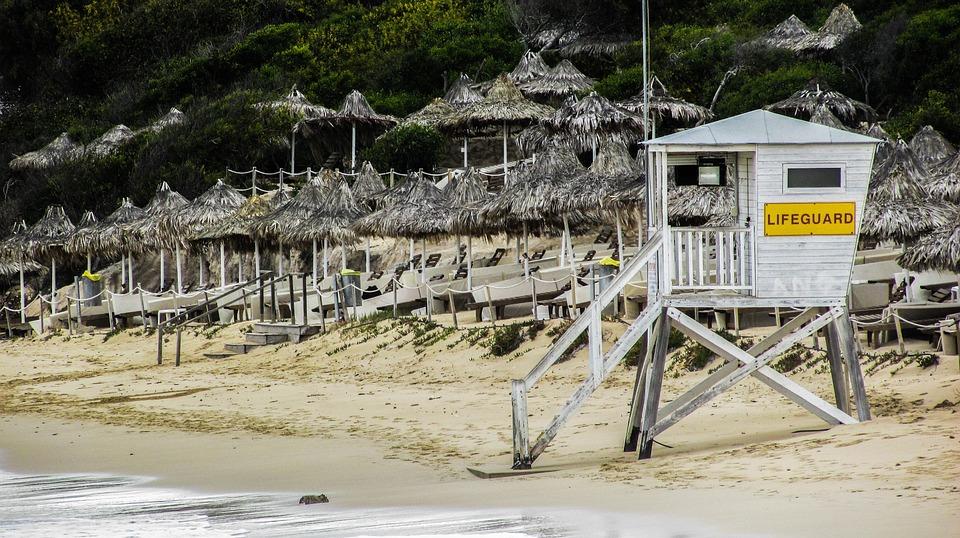 Cyprus, Ayia Napa, Beach, Lifeguard Tower, Resort