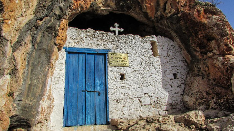 Cyprus, Paralimni, Ayii Saranta, Cave, Chapel, Religion