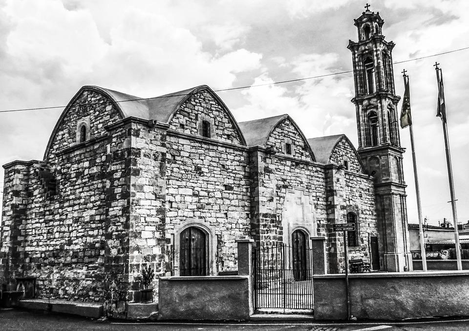 Cyprus, Athienou, Ayios Georgios, Church, Old, Orthodox