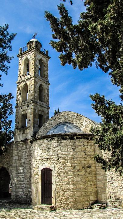 Cyprus, Troulli, Ayios Mamas, Church, Medieval
