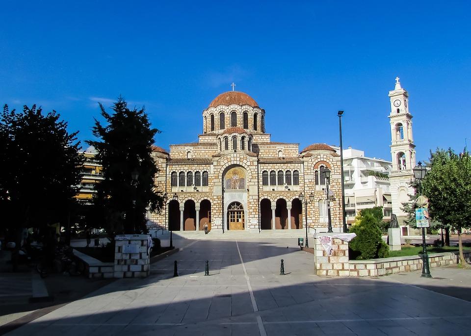 Greece, Volos, Cathedral, Square, Ayios Nikolaos