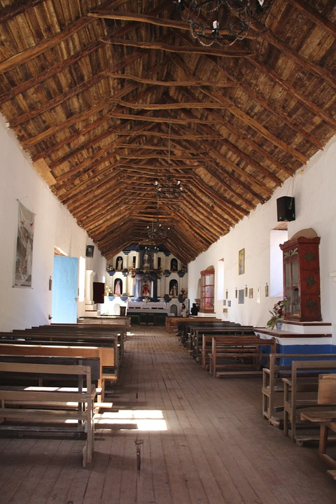 Church, Picturesque, Northern Chile, Inside, Aymara