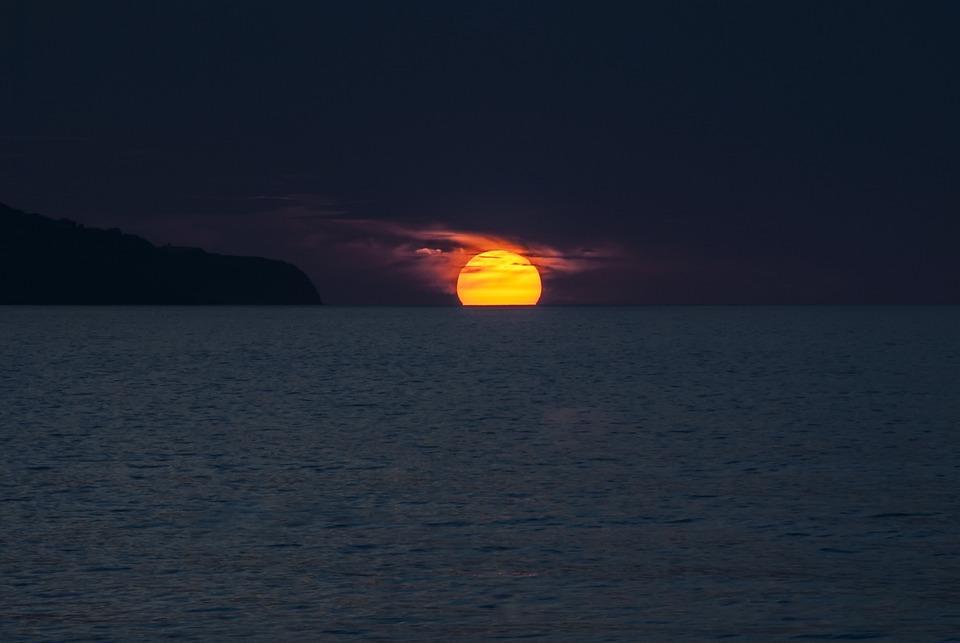 Sunset, Ocean, Azores, Portugal, Sol, São Miguel