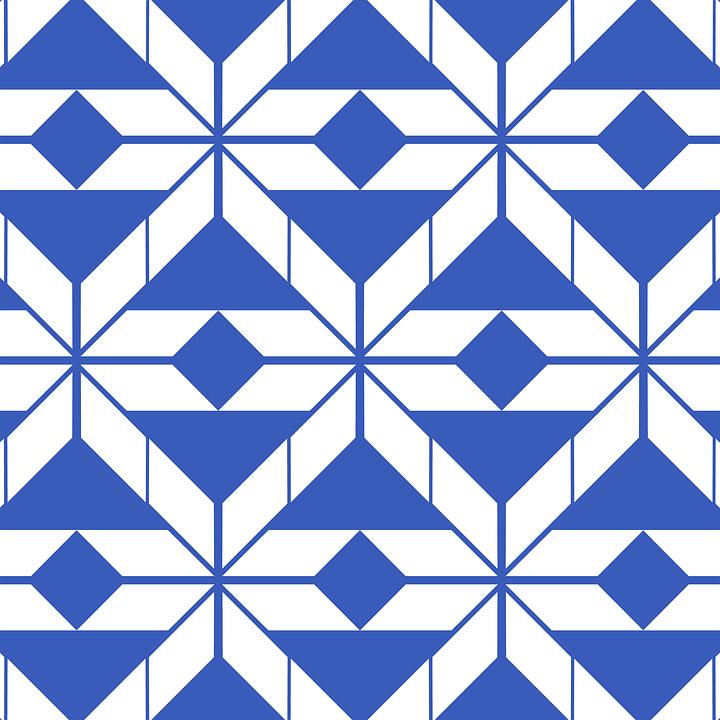 Pattern, Texture, Background, Aztec, Blue
