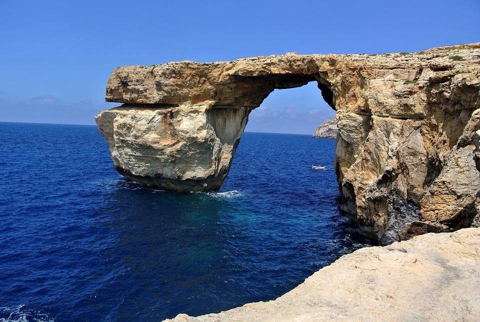 Azure Window, Malta, Azure, Gozo, Sea, Window, Arch