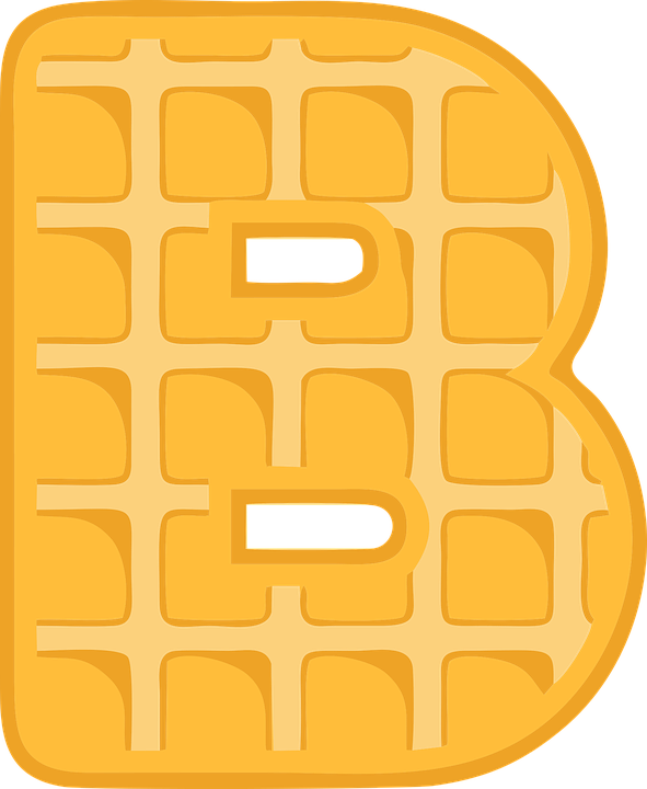 B, Alphabet, Waffle, Letter, Typography, Text, Font