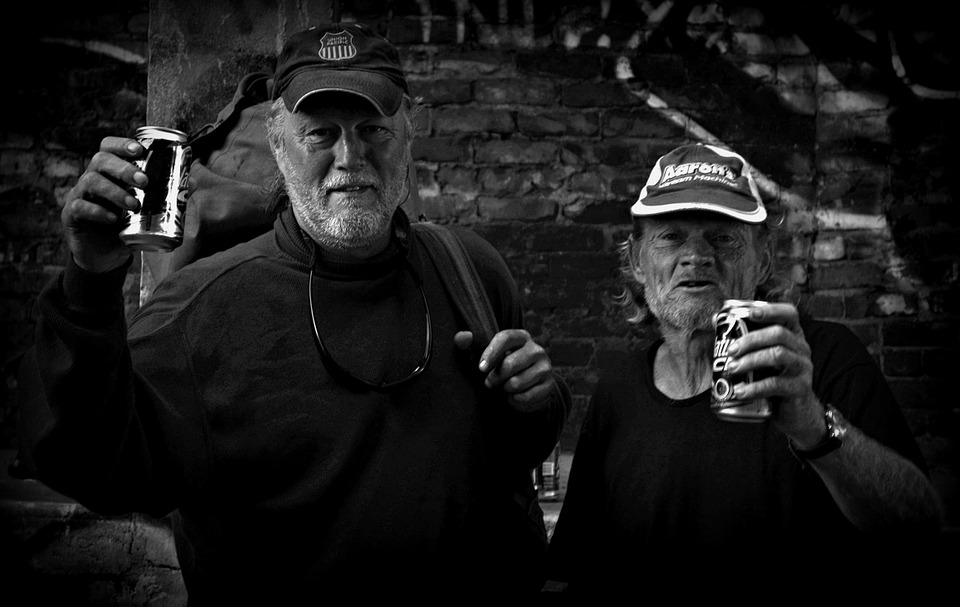 Hobo, B W, Editorial, Friends, Party, Black, White