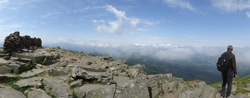 Mountains, Babia Top, Landscape, Beskids, Clouds, Tops