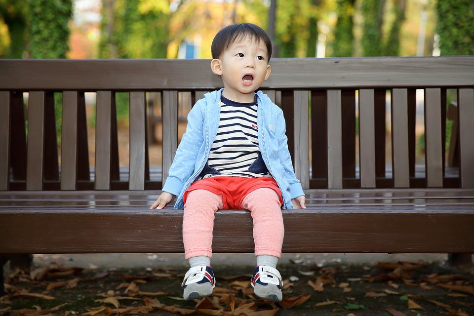 Baby, Song, Bench, Autumn
