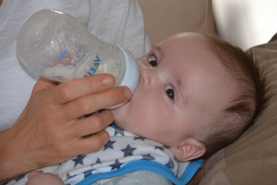 Baby, Young, People, Plush, Boy, Child, Milk, Bottle