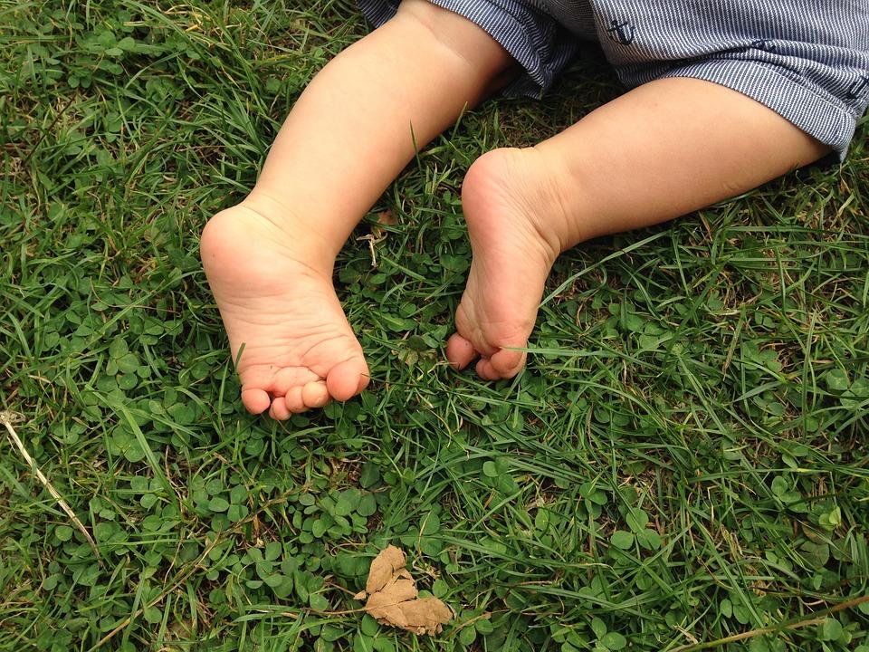 Feet, Baby, Nature
