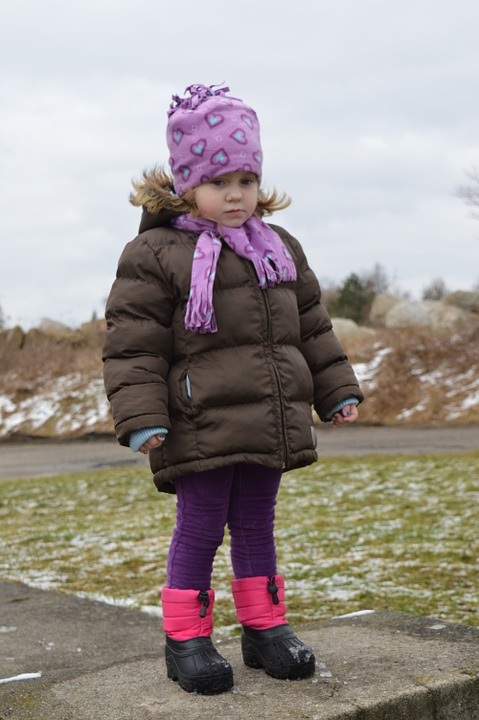 Winter, Walk, Baby Girl