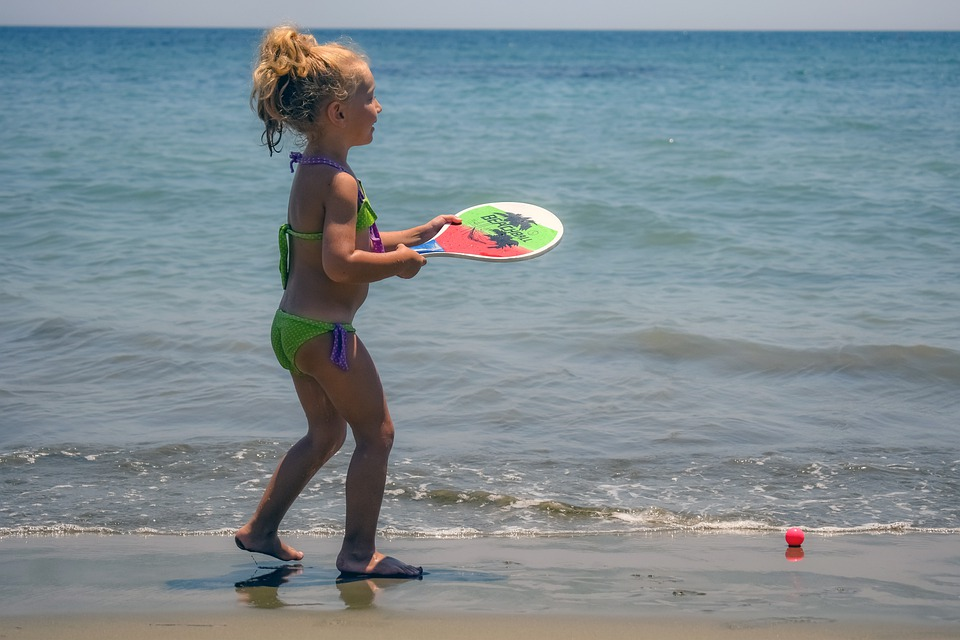 Girl, Beach, Sea, Baby, Happy, People, Playing, Kid