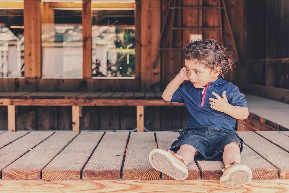 Kid, Children, Boy, Sitting, Porch, Baby, Kiddie
