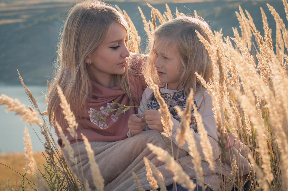 Family, Mom And Daughter, Baby, Girl, Mother, Outdoors
