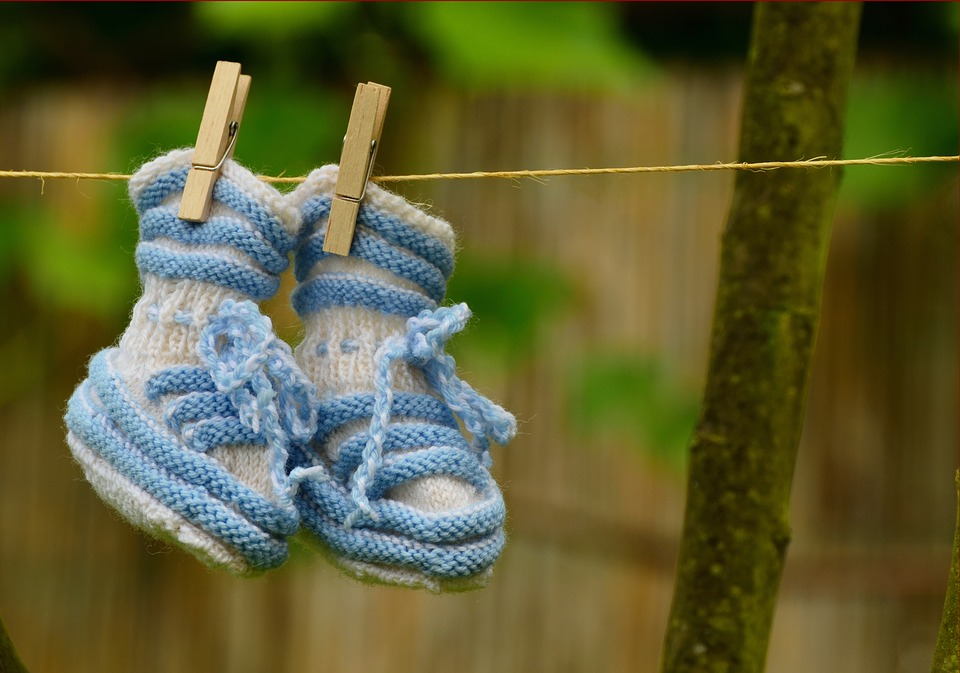 Baby, Boy, Greeting, Birth, Baby Shoes, Knitted, Gift