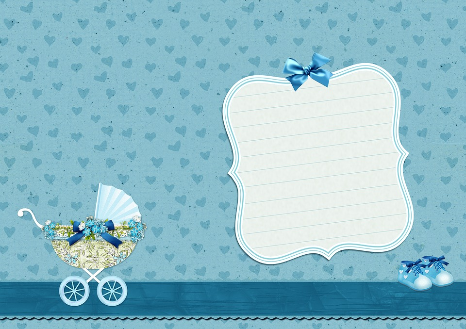 free photo baby shoes blue background image baby carriage
