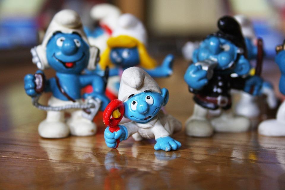 Stinks, Game, Baby Smurf, Newborn