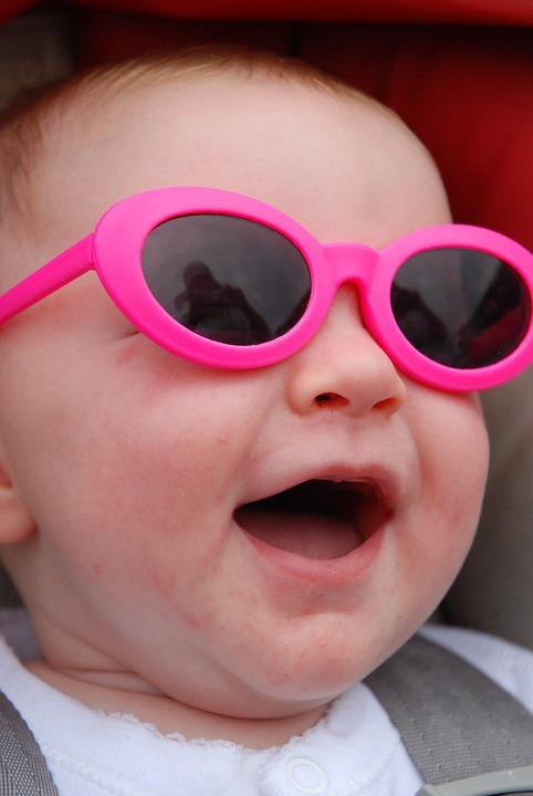 Baby, Sunglasses, Sourir