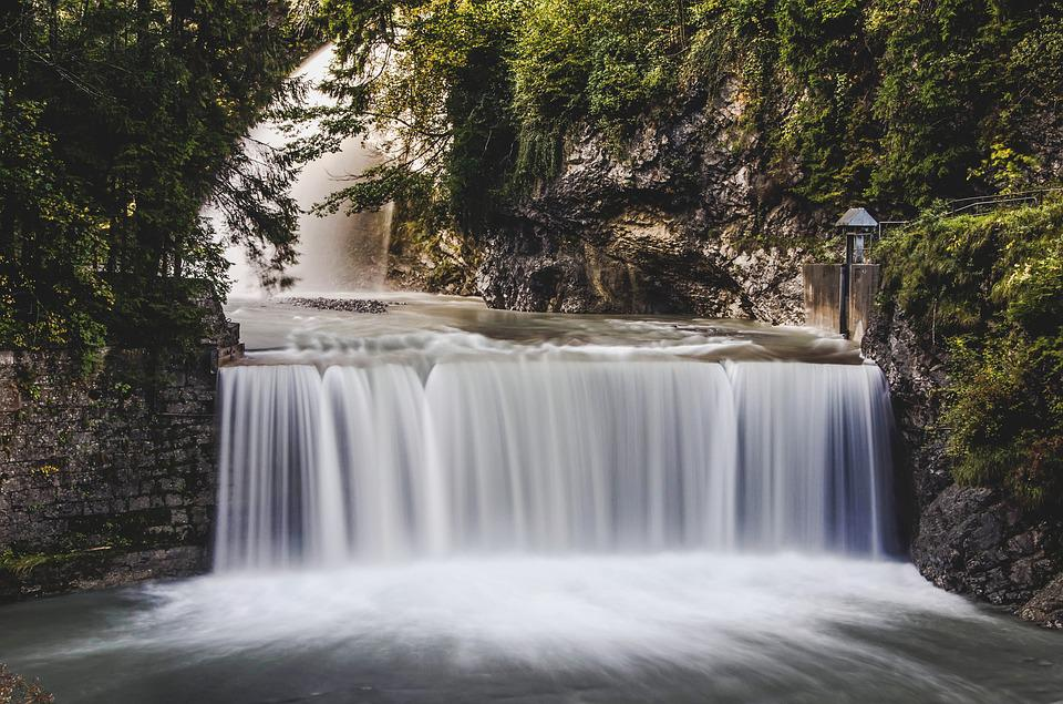 Water, Waterfall, Long Exposure, Bach, Landscape
