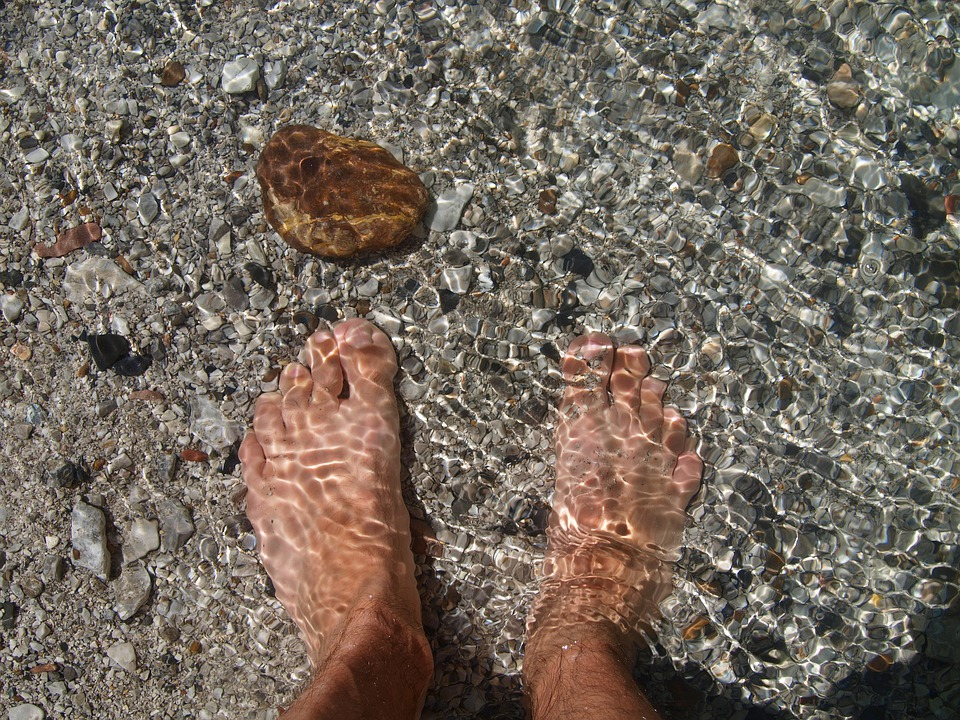 Nature, Water, Blue, Mood, From Above, Feet, Bach