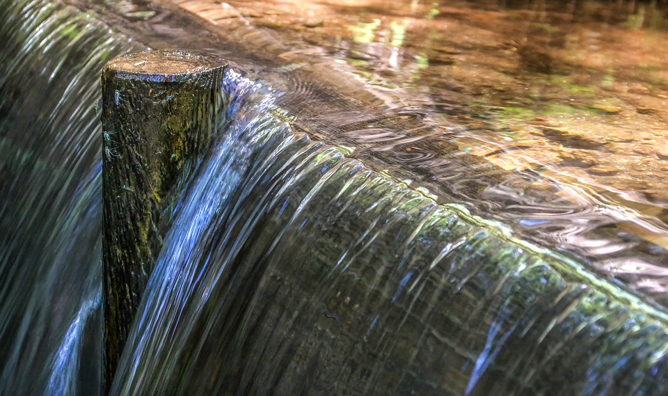 Water, Bach, Nature, Overflow, Waterfall, Structure