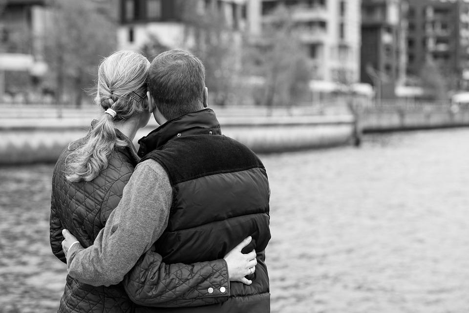 Couple, Embrace, Portrait, Back, Together, Lovers, Love
