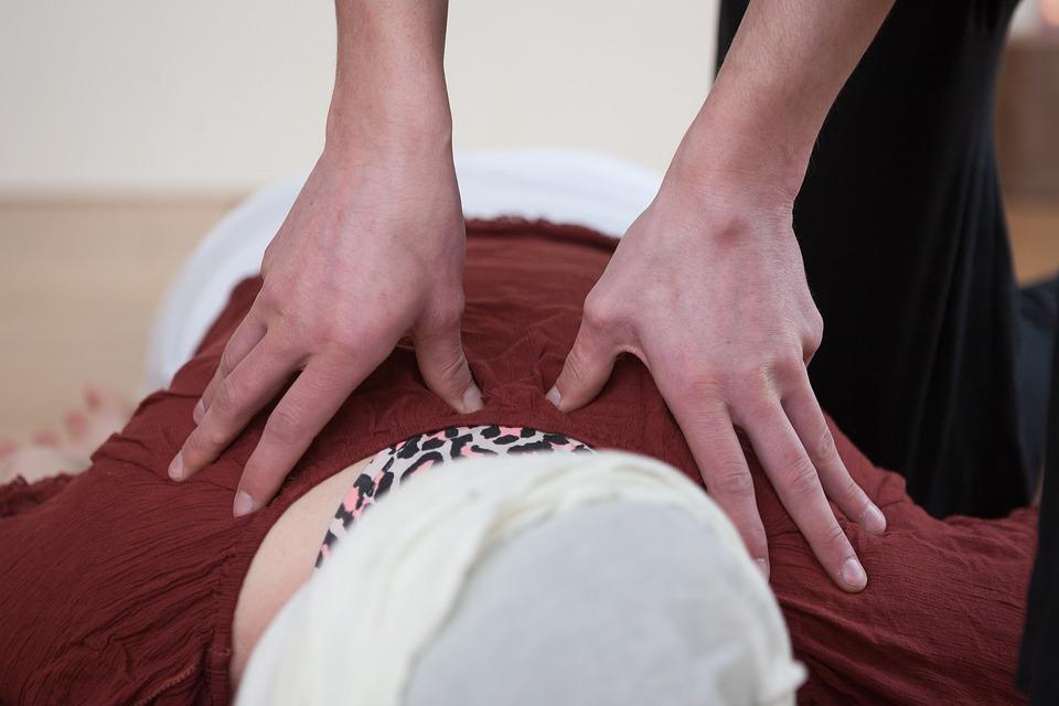 Massage, Shiatsu, Back, Hands