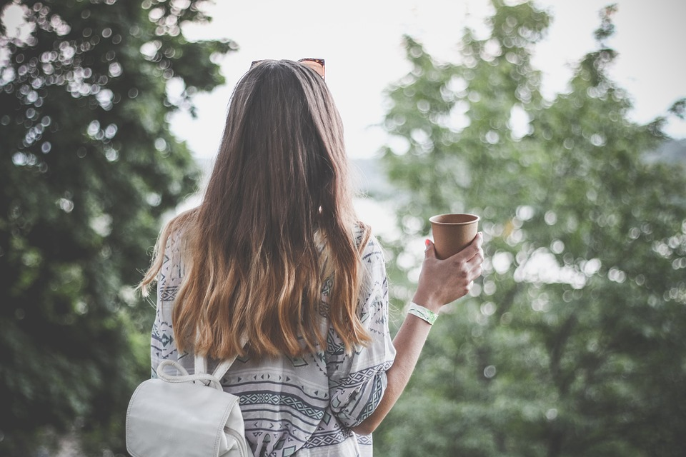 Adult, Back View, Beautiful, Coffee, Fashion, Female