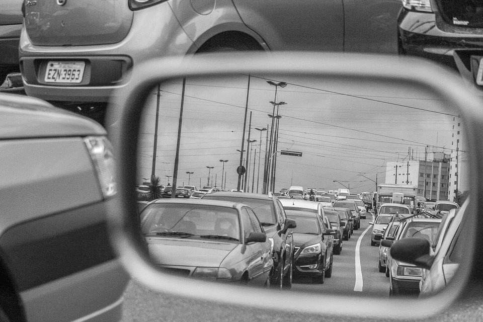 Rearview, Traffic, Rent A Car, Road, Back View, Mirror
