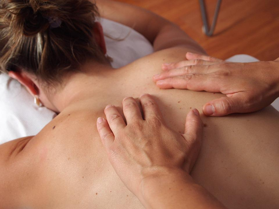 Woman, Hands, Massage, Massaging, Physiotherapy, Back