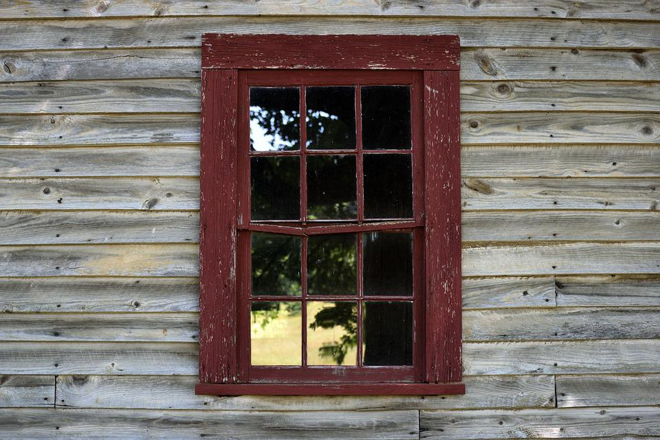 Old, Wooden, Wall, Background, Backdrop, Window, Retro