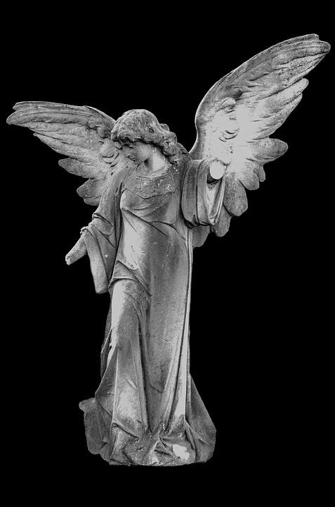 Angel, Angelic, Background, Black, Christian, Saint
