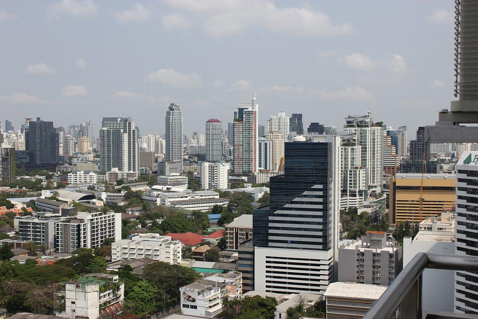 Bangkok, City, Big City, Background, Skyscraper