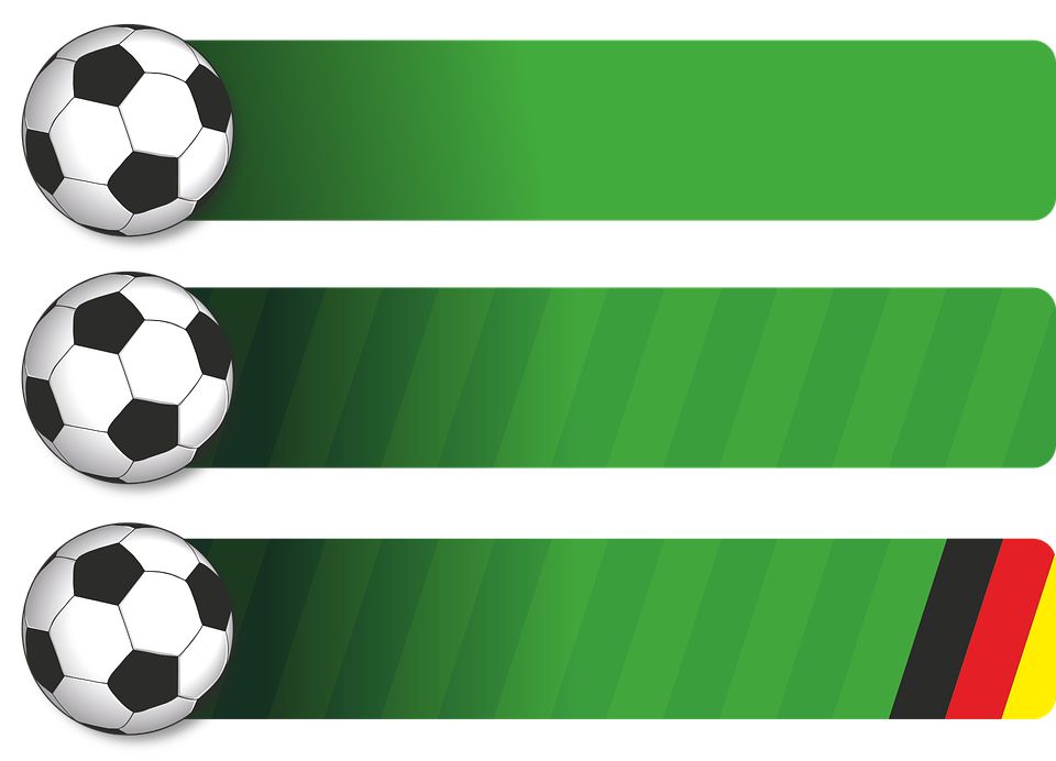 Football, Ball, Green, Background, Banner