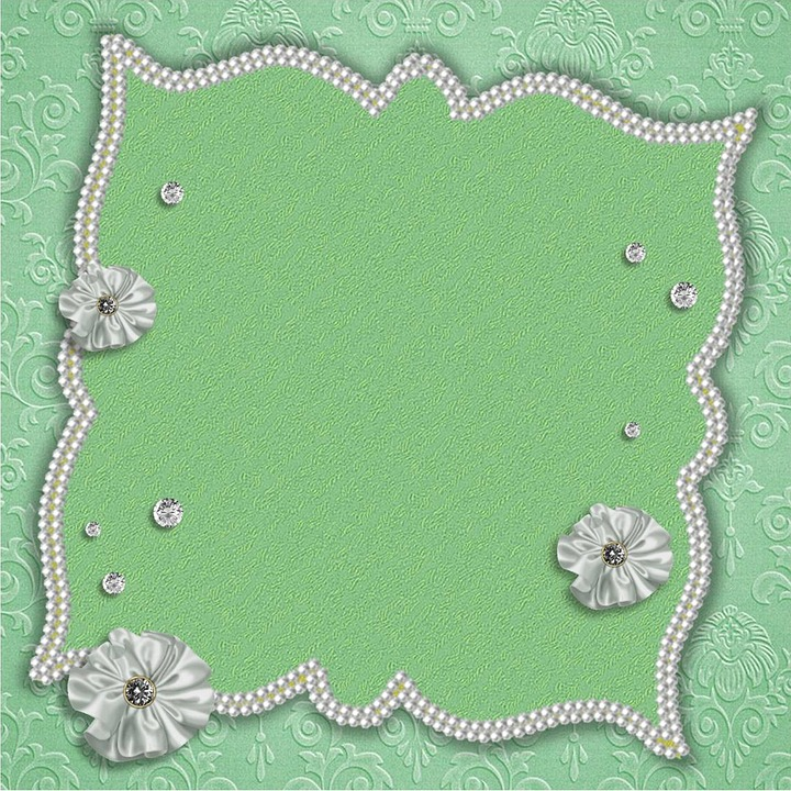 Guestbook, Green, Beads, Background