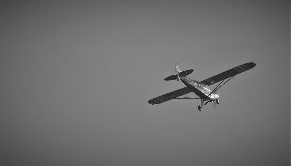 Aircraft, Black And White, Aerial View, Background