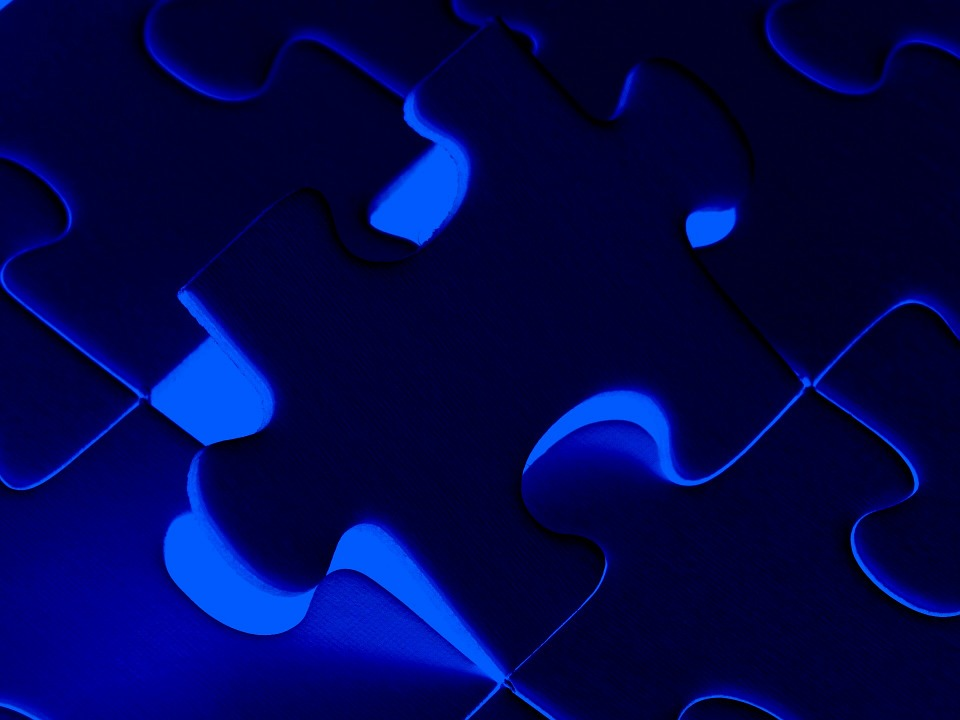 Puzzle, Bright, Blue, Background