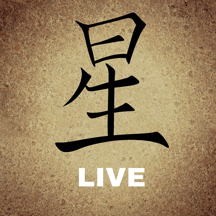 Chinese, Characters, Background, Live