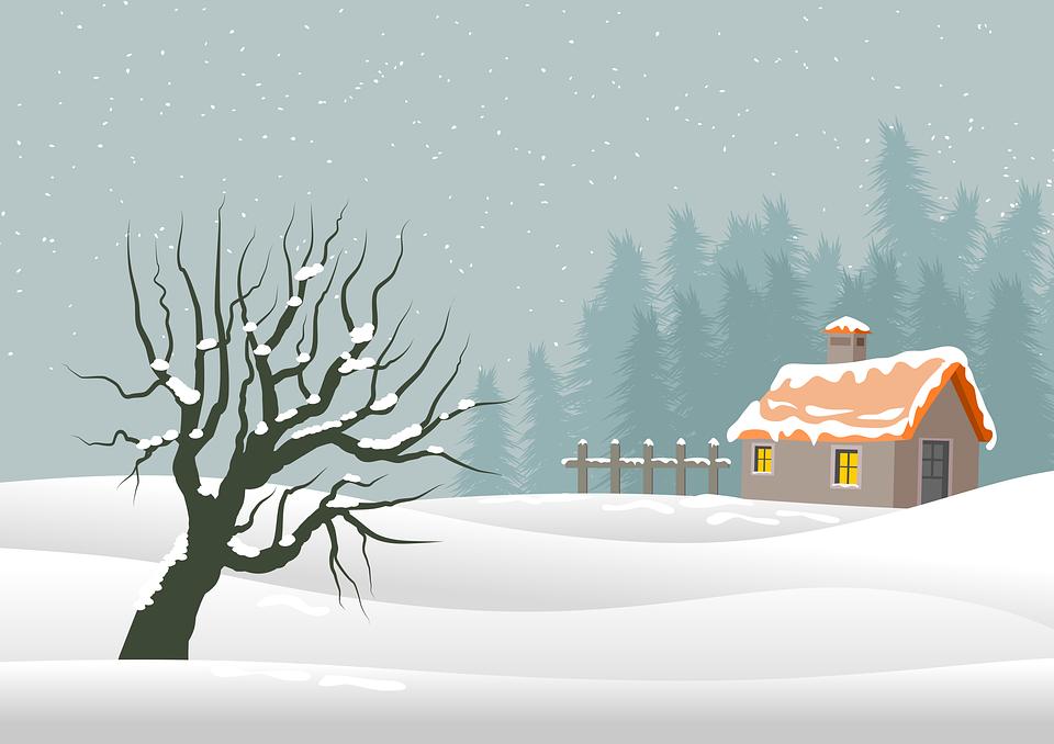 Christmas, Background, Landscape, Nature, Postal, Card