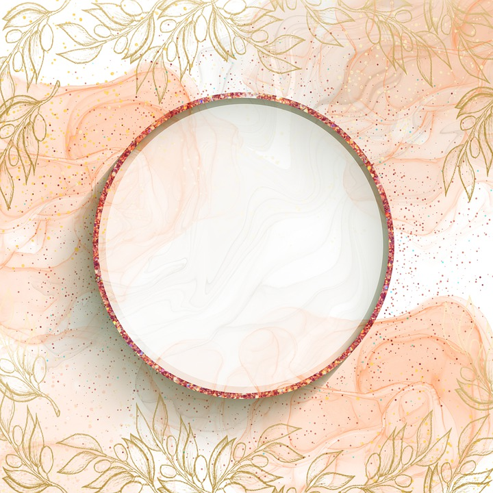 Flowers, Frame, Circle, Background, Round, Pink